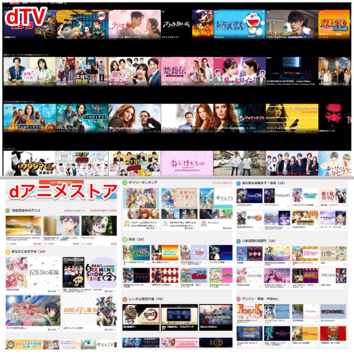 dTVとdアニメストアは登録前に視聴動画をチェックできる