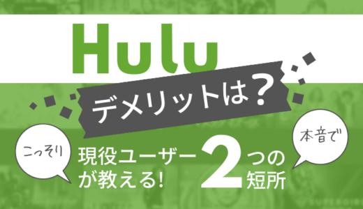 【本音レビュー】Huluのデメリットとは?現役ユーザーが語る2つの短所